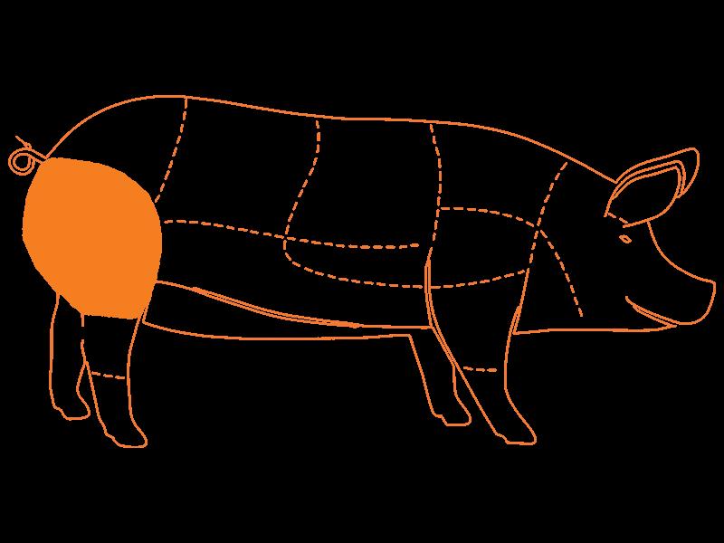 Pierna de Cerdo con Piel