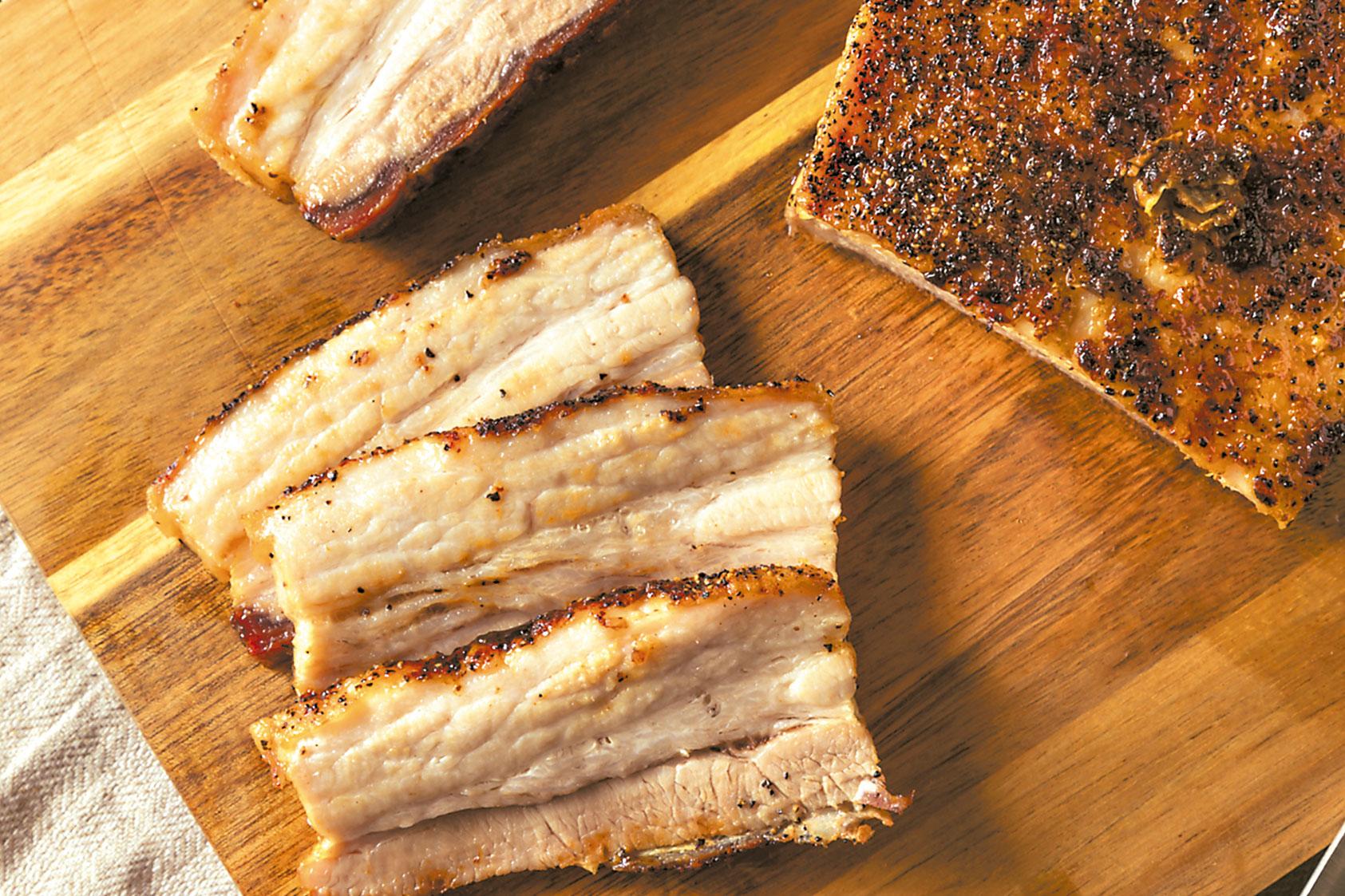 Pork Belly en Costra de Hierbas