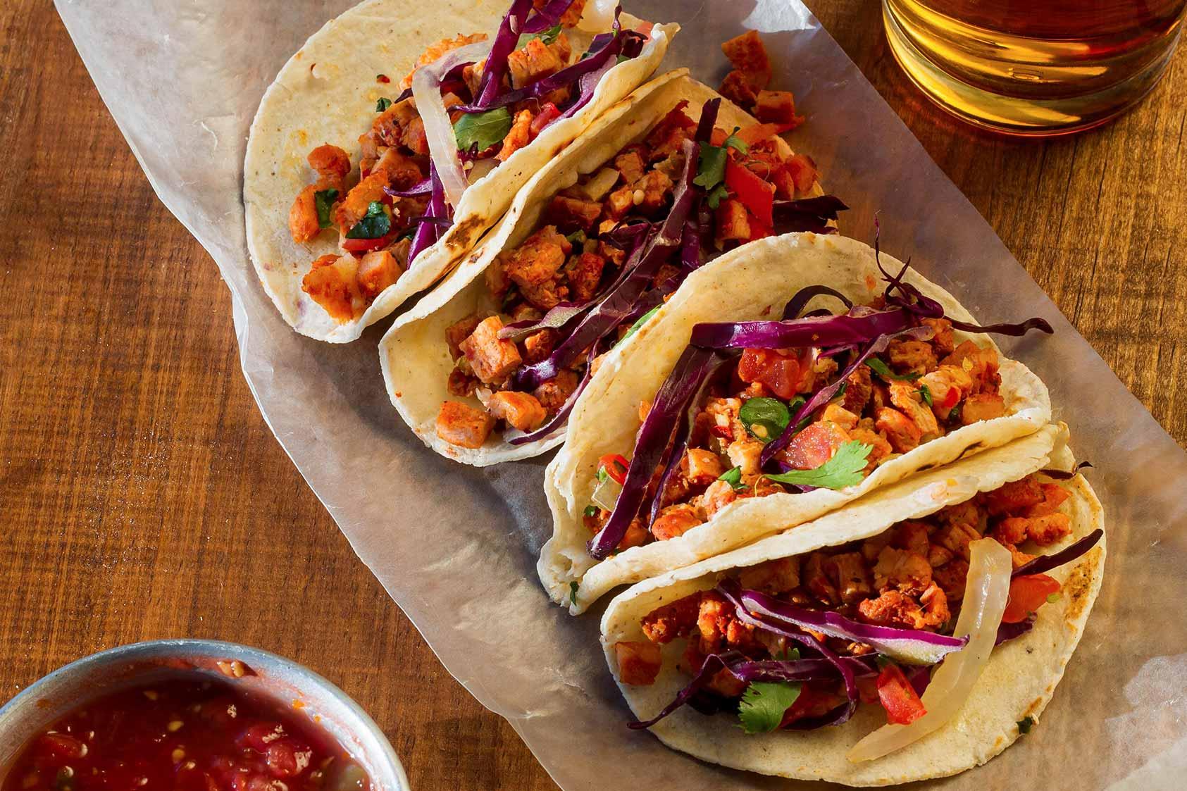 Tacos de Fajitas de Res