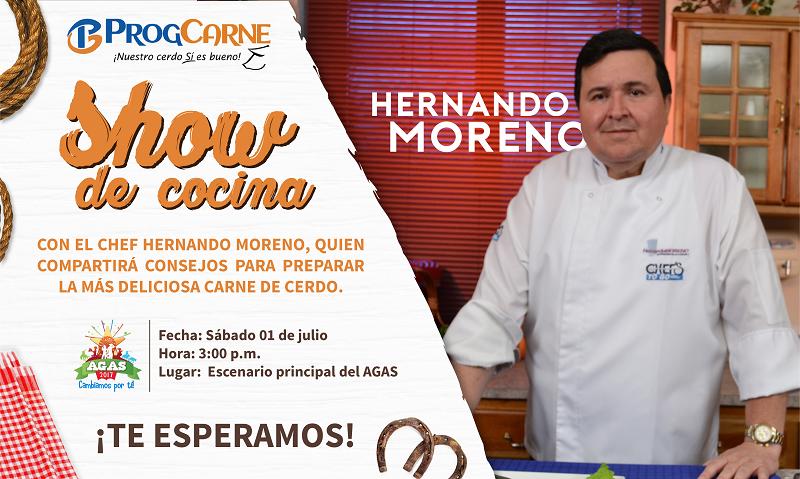 Presentamos el show de cocina con el chef Hernando Moreno