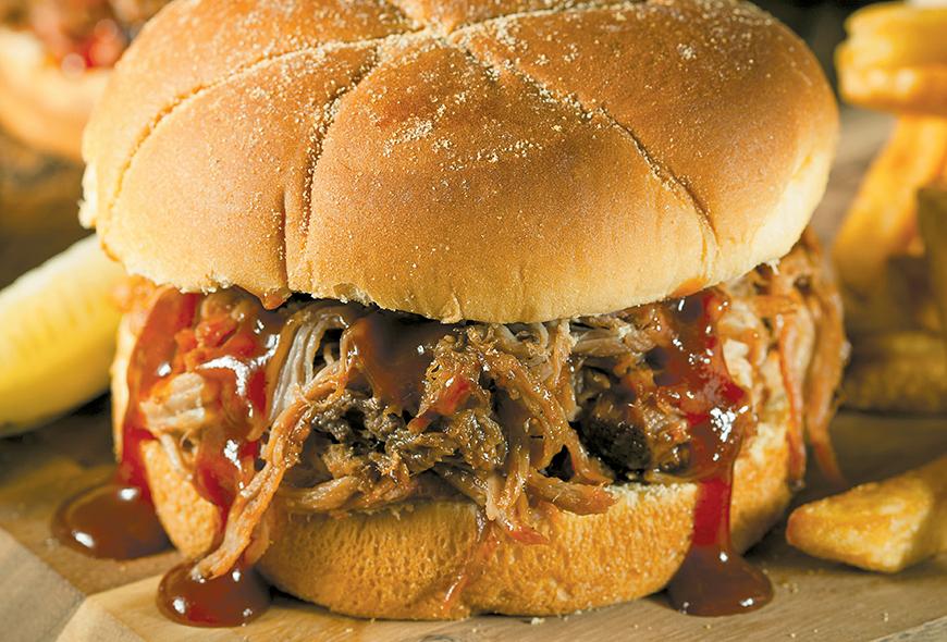 Sandwich Mechado de Cerdo a la BBQ